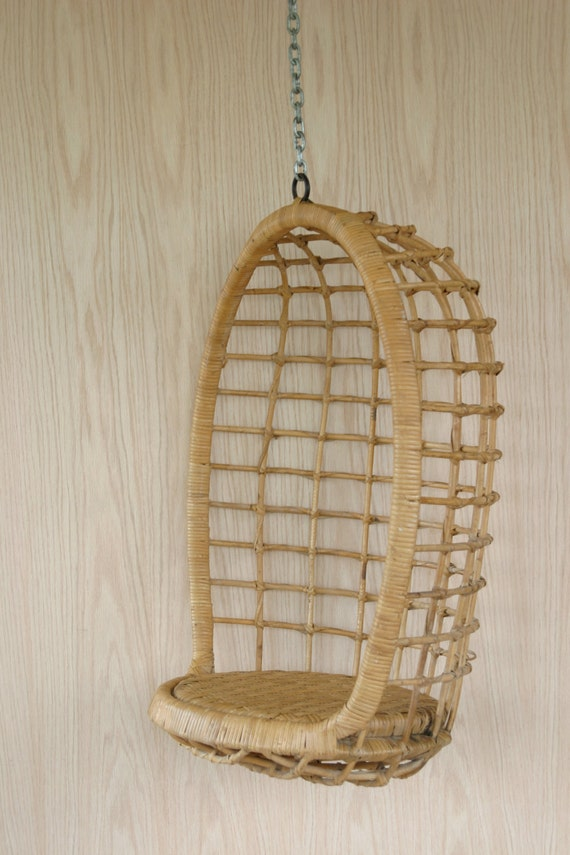 Vintage Children's Rattan Egg Chair