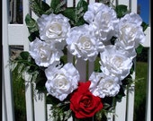 Heart shaped rose wreath