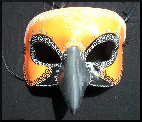 Altamira Oriole Masquerade Custom Leather Bird Mask