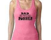 Womens Bad Mother Runner Exercise  Fitness Tank