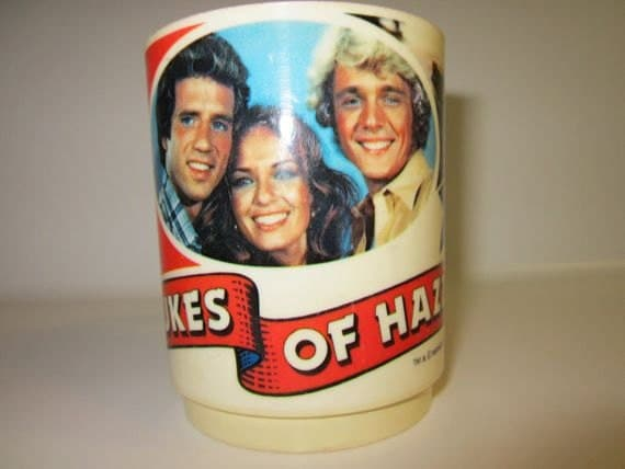 Vintage The Dukes Of Hazzard Collectible Plastic Cup Warner Bros INC 1981