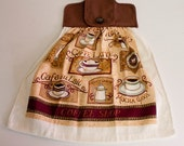 Coffee Decorated Hanging Dish Towel