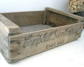 RERSERVED FOR FRANCESS - Campbell's Soup Crate, Vintage Wood Crate with Campbell's Logo