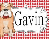 DAWG Personalized Laminated Placemat