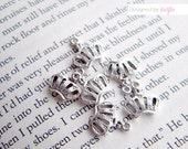 Lot of 15 Tiara Charms - Antique Silver