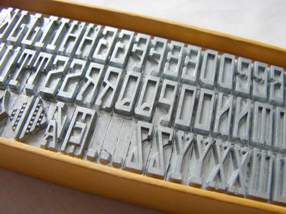 Letterpress Metal Type - Initial Type Set in Original Box
