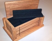 Valet Box, Red Oak Box, Jewelry Box, Wood Hand Milled Box with Removable Tray, Keepsake Box, Memory Box