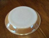 Vintage Fire King Pie Plate in Peach Luster