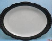 RARE HOMER LAUGHLIN  Best China Platter in Black and White