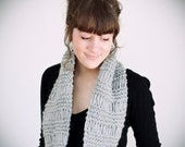 SALE light grey wool & acrylic circle scarf