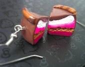 Polymer Clay Earrings -Chocolate Cake - Yummy Fashion