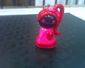 Cute Polymer Clay Charm - Liddy Chibi Collection Hot pink, purple, red