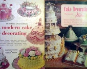 Vintage Wilton Cake Decorating Book Set - Modern Cake Decorating and 1 book free