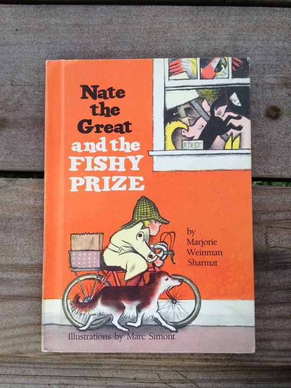 Vintage Book Weekly Reader - Nate the Great and the Fishy Prize 1985 - FREE SHIPPING
