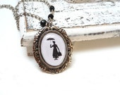 10% OFF Mary poppins silhouette necklace - Gift for her under 20 USD