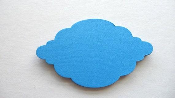 Bracket Label ---Qty 12---Bright Blue Card Stock-Decorative Label
