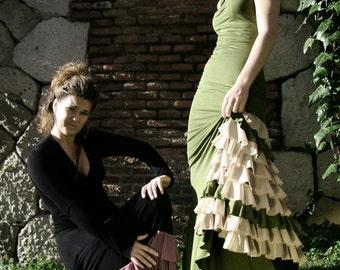 Green Flamenco Dress 01