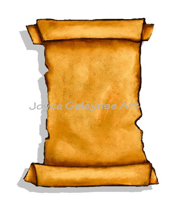 Clip Art, Old Scroll, Freehand Art, You Print,  jpg and gif files included, Commercial Use,  INSTANT Download