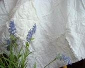 White Shabby Cottage Baby Rag Quilt - Crib Size, White Nursery, Old-Fashioned, Baby Gift