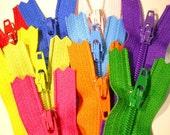 YKK Zippers - 5 Inch -Rainbow Mix - (10)