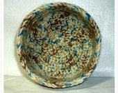 Double Strand Yarn Bowl in Rich Earth Tones and Blue