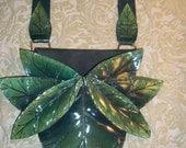 Earthy green leaf bag