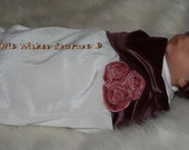 Soft Velvet Baby Cocoon in Dusty Rose and Ivory Color for 0-3 months