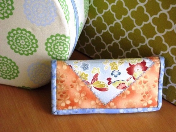 Beautiful Japanese inspired Fabric Wallet
