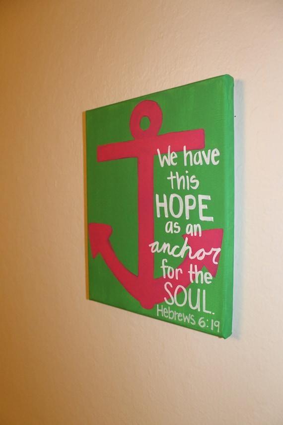Hebrews 6:19 Canvas Art - 8x10