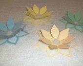 3D Lotus Flower Cardstock set of 12