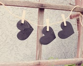 CHALKBOARD HEARTS Wedding table numbers or guest place cards (set of 15)