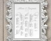Wedding Seating Chart Fancy Letter Monogram  (printable) (any size)
