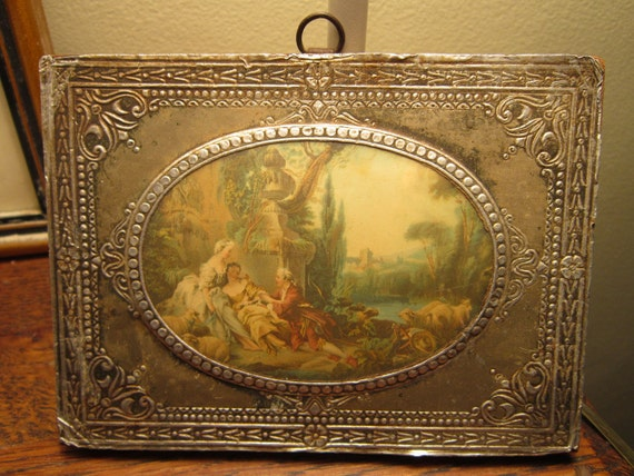Vintage French Scene Foil Wall Hanging
