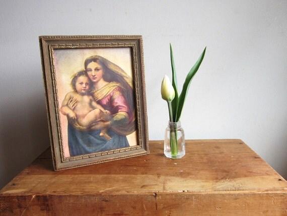 Raphael's Sistine Madonnna Vintage Framed Print