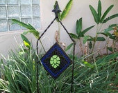 Fused Glass Turtle Garden Stake