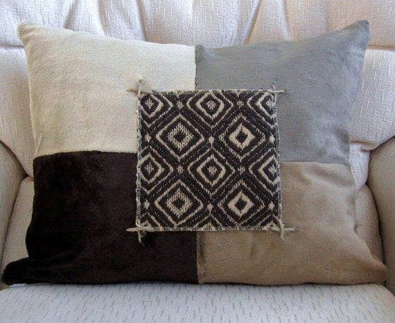 Modern Rustic Tribal Decorative Throw Pillow Cover Color