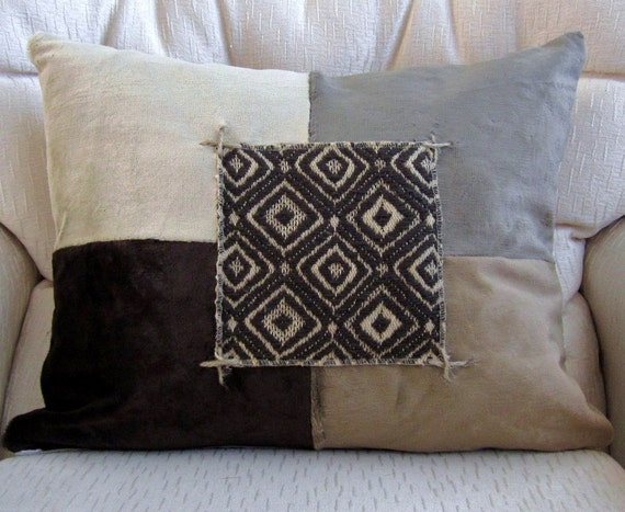 Colorful Rustic Throw Pillows : Modern Rustic Tribal Decorative Throw Pillow Cover Color