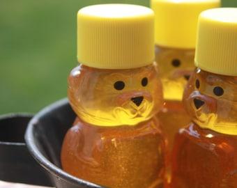 48 Raw Wildflower Honey Bear 2 oz. Wedding or Shower Favor  All Natural Ohio Honey
