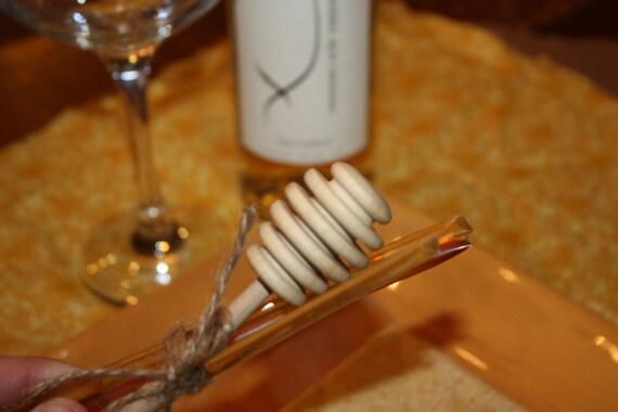 35 Honey Dippers with Honey Sticks wedding favor bridal shower