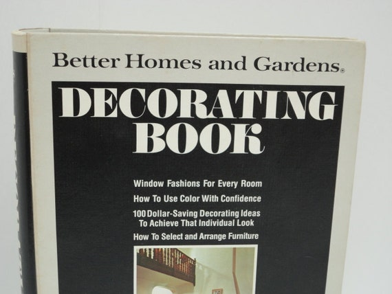 Vintage Better Homes Decorating Book 1975 Retro Home Decor Classic Mid-century How-To Book by metrocottage