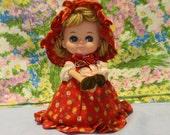 Vintage Doll Musical Japan Swan Lake Red Riding Hood