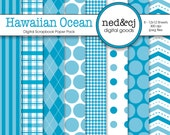 Digital Scrapbook Paper Pack - Hawaiian Ocean - Pantone Spring Collection