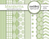 BUY 1, GET 1 FREE - Digital Scrapbook Paper Pack - Margarita - Pantone Spring Collection