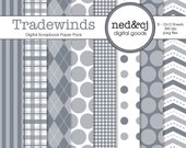 Digital Scrapbook Paper Pack - Tradewinds - Pantone Spring Collection - INSTANT DOWNLOAD