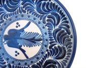 Blue & White Wall Plate