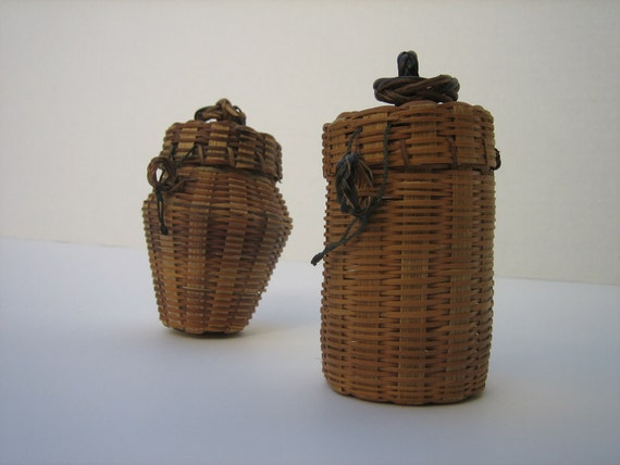 Small Baskets with Lids Set 1
