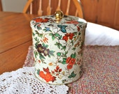 Vintage Daher of England floral tin canister
