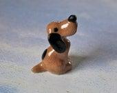 Vintage Hagen Renaker miniature hound dog figurine