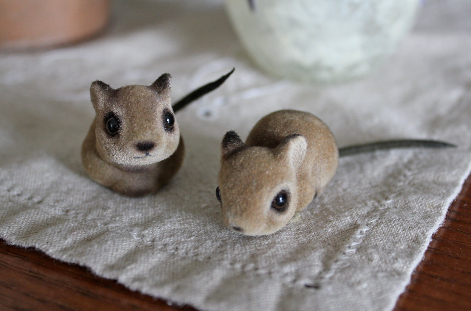 Vintage Josef Originals Flocked Ceramic Baby Mice