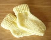 Lemon--Yellow Childs Knitted Socks
